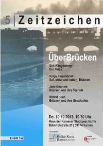 Plakat Zeitzeichen ÜberBrücken 2013 Din A3 Kopie