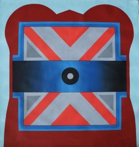 6a. 1965, Safebild X, Dispersionsfarbe auf Nessel