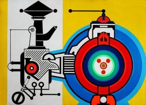 7. 1968, Made in W. Berlin, Acryl auf Hartfaser