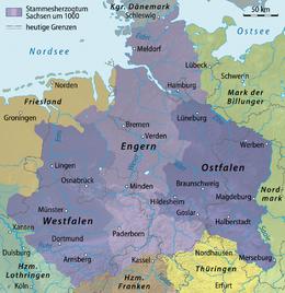 Abb. 1 260px-Karte_Stammesherzogtum_Sachsen_um_1000