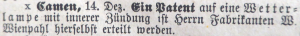 Abb. 6a Annonce Wienpahl 15.12.1895