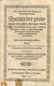 Abb. 1 Titelseite 1613
