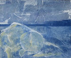 Abb. 22 Felsen mit Vogel 2014 110 x 90 cm Kopie